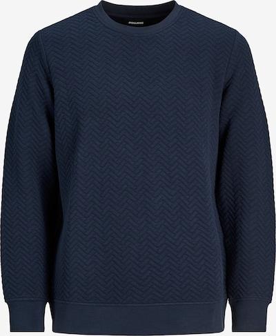JACK & JONES Sweatshirt 'Quilt' i marinblå: Sedd framifrån