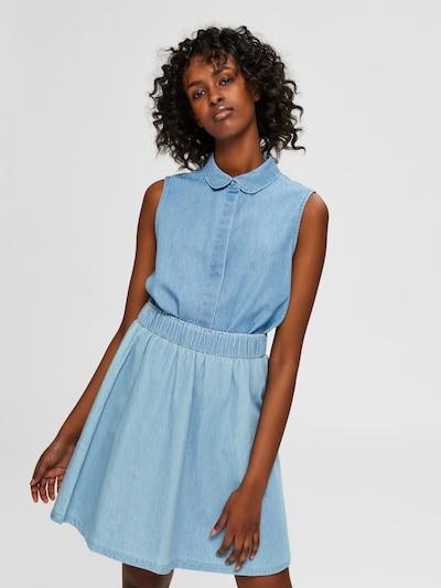 SELECTED FEMME Blouse in de kleur Blauw denim, Modelweergave