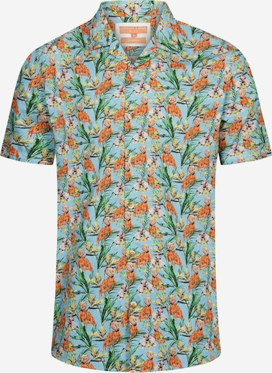 COLOURS & SONS Kurzarmhemd Flamingo-Print COLIN in grün / mint, Produktansicht