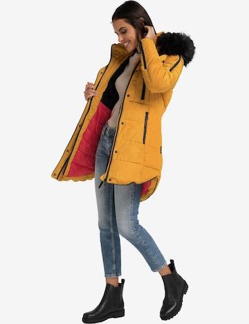 MARIKOO Winter Coat 'Moonshine' in Yellow