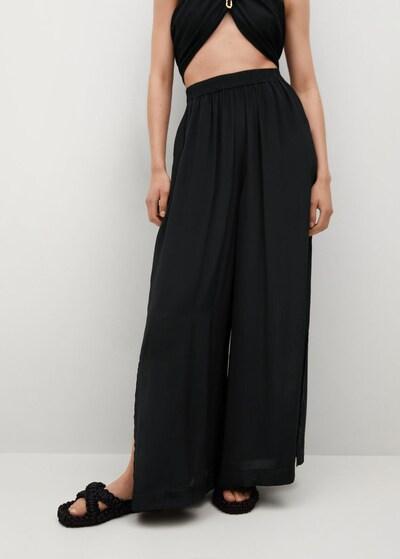 MANGO Kalhoty 'Saffron' - černá, Model/ka