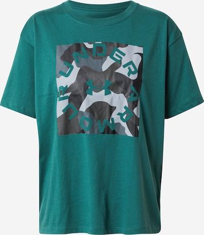 UNDER ARMOUR T-shirt fonctionnel en gris / vert / noir / blanc, Vue avec produit