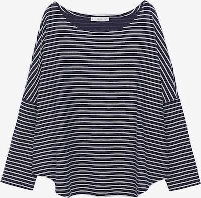 MANGO Shirt 'Seul' in de kleur Navy / Wit, Productweergave