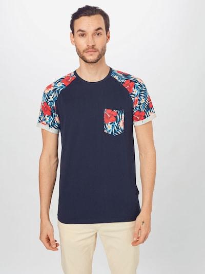 !Solid Тениска 'Ruel' в морскосиньо / петрол / червено, Преглед на модела
