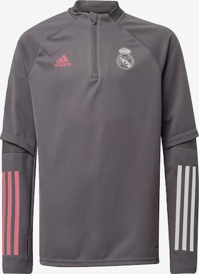 ADIDAS PERFORMANCE Sportsweatshirt  'Real Madrid' in dunkelgrau / koralle / weiß, Produktansicht