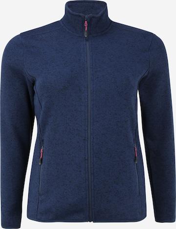 Whistler Athletic Fleece Jacket 'Maleo' in Blue