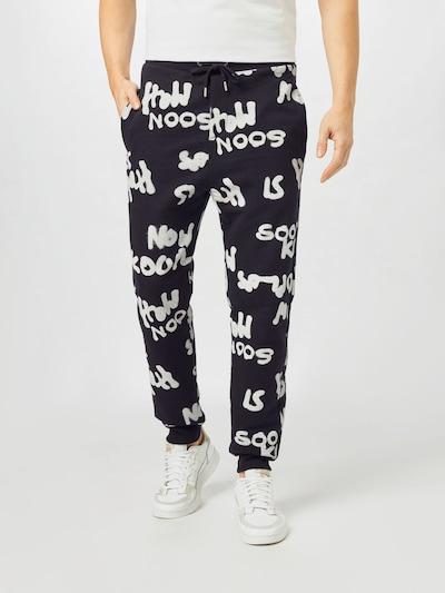 THE KOOPLES SPORT Kalhoty - černá / bílá, Model/ka