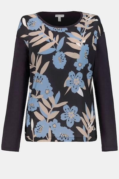 Gina Laura Damen Shirt in hellblau / schwarz, Produktansicht