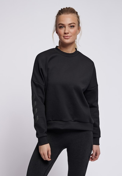 Hummel Sportsweatshirt in schwarz: Frontalansicht
