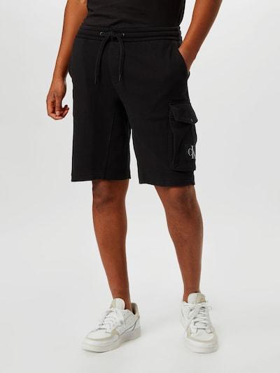 Calvin Klein Jeans Cargo trousers in black, View model