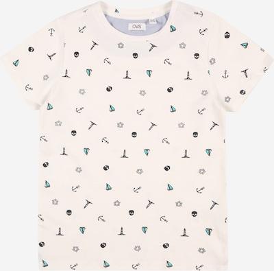 OVS T-Shirt en turquoise / noir / blanc cassé: Vue de face