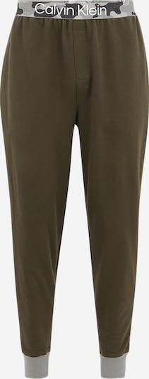 Calvin Klein Underwear Pyjamahose en khaki / oliv / weiß, Vue avec produit