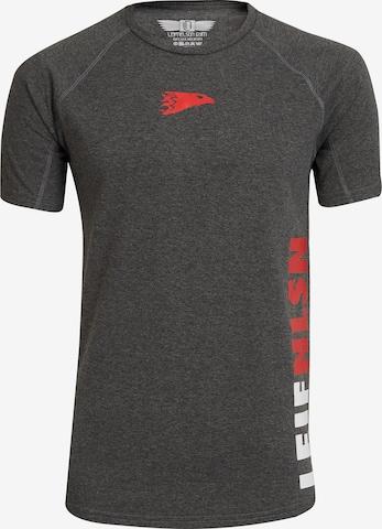 Leif Nelson Gym T-Shirt Rundhals in Grau