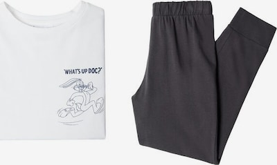 MANGO KIDS Pyjama 'Bugs' in anthrazit / weiß, Produktansicht