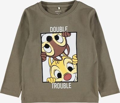 NAME IT T-Shirt 'CHIP&DALE' en marron / jaune / gris / blanc, Vue avec produit