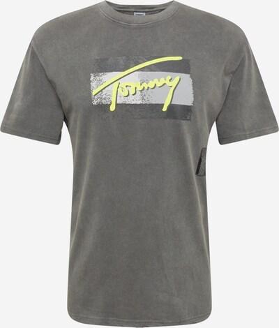 Tommy Jeans Shirt in gelb / hellgrau / dunkelgrau, Produktansicht