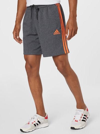 ADIDAS PERFORMANCE Športové nohavice - antracitová / tmavooranžová, Model/-ka