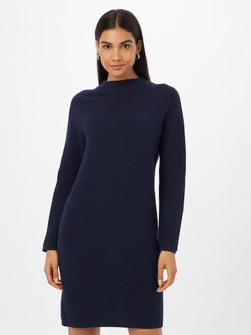 ESPRIT Gebreide jurk in Blauw