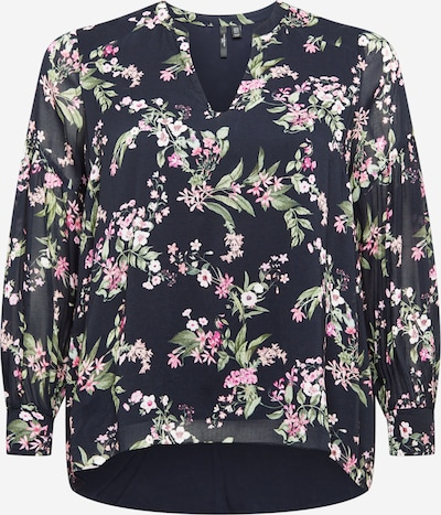 Forever New Curve Blouse 'Neve' in Night blue / Grass green / Pink, Item view