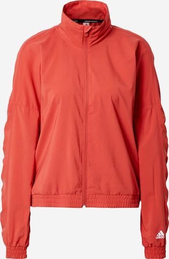 ADIDAS PERFORMANCE Sportska jakna 'Badge Of Sports' u narančasto crvena / bijela, Pregled proizvoda