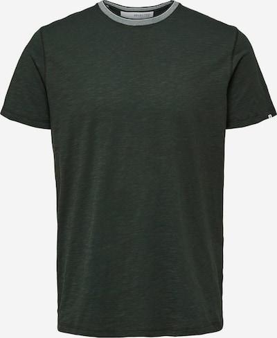 SELECTED HOMME Shirt in de kleur Kaki / Wit: Vooraanzicht