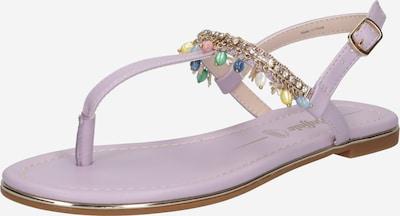 Šlepetės per pirštą 'RACHEL' iš BUFFALO , spalva - šviesiai violetinė / mišrios spalvos, Prekių apžvalga