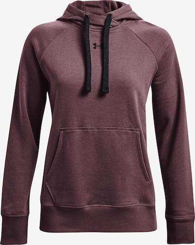 UNDER ARMOUR Sportsweatshirt 'Rival' in pflaume / schwarz, Produktansicht