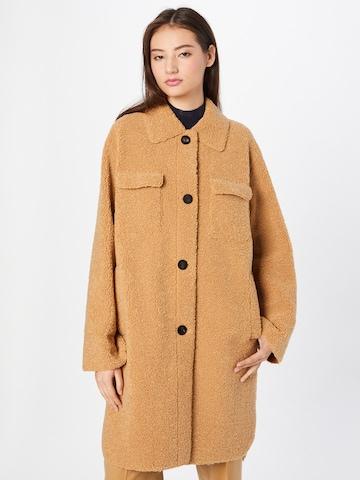 HUGO Between-Seasons Coat 'Melesa' in Beige
