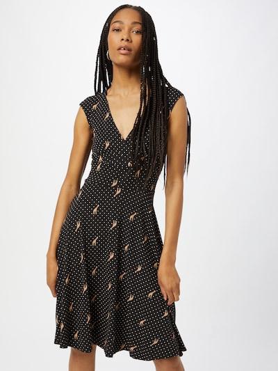 Blutsgeschwister Kleid 'Shalala Tralala' in hellbeige / braun / schwarz / weiß, Modelansicht