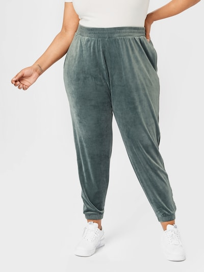 Zizzi Hose 'HELENA' in smaragd, Modelansicht