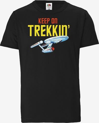 LOGOSHIRT T-Shirt 'Star Trek – Keep On Trekkin'' in schwarz, Produktansicht