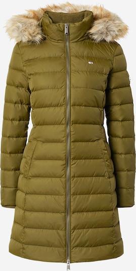 Tommy Jeans Manteau d'hiver en olive, Vue avec produit