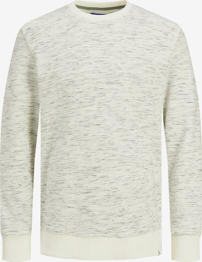 JACK & JONES Sweatshirt 'Olis' in dunkelgrau / graumeliert / weiß, Produktansicht