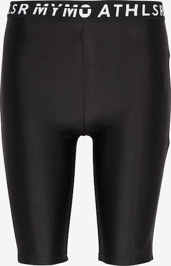 Pantaloni sport myMo ATHLSR pe negru / alb, Vizualizare produs