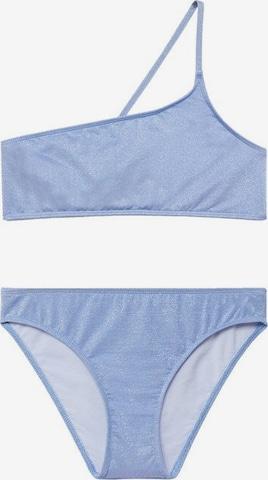 MANGO KIDS Bikini 'Lurexbk' in Blau