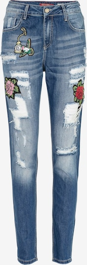 CIPO & BAXX Jeans 'Patched Rose' in blau, Produktansicht