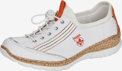 RIEKER Lace-up shoe in mixed colours / white, Item view