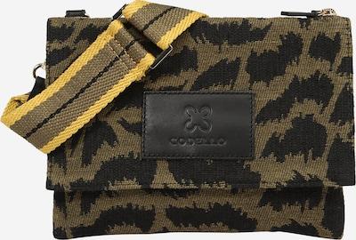 CODELLO Crossbody Bag in Dark yellow / Dark grey / Green, Item view