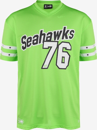 NEW ERA T-Shirt in neongrün / schwarz / weiß, Produktansicht