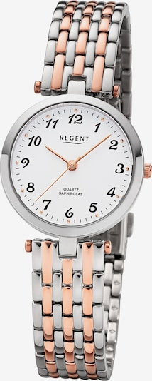 REGENT Uhr in rosegold / silber, Produktansicht