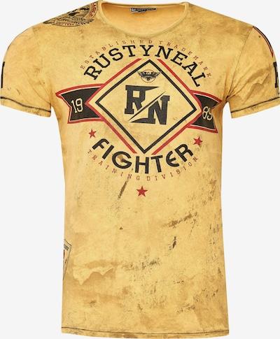 Rusty Neal Cooles T-Shirt aus weicher Baumwolle in gelb, Produktansicht