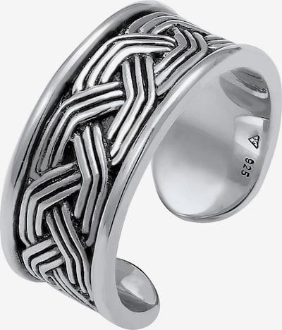 KUZZOI Ring in schwarz / silber, Produktansicht