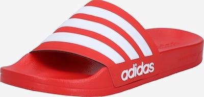ADIDAS PERFORMANCE Badeschuh 'ADILETTE' in rot / weiß, Produktansicht