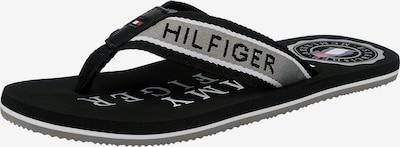 TOMMY HILFIGER Zehentrenner in grau / schwarz, Produktansicht