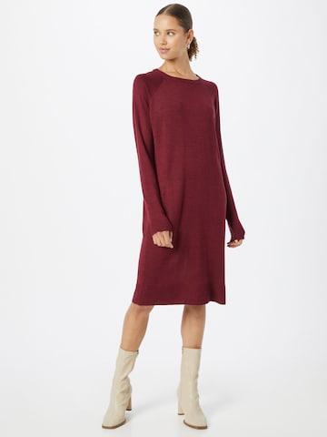 VERO MODA Gebreide jurk 'MEGHAN' in Rood