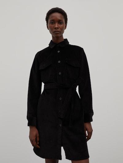 EDITED Košeľové šaty 'Annabel' - čierna, Model/-ka