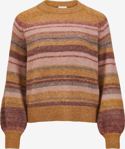 VILA Pullover in braun / senf / rosa / altrosa, Produktansicht