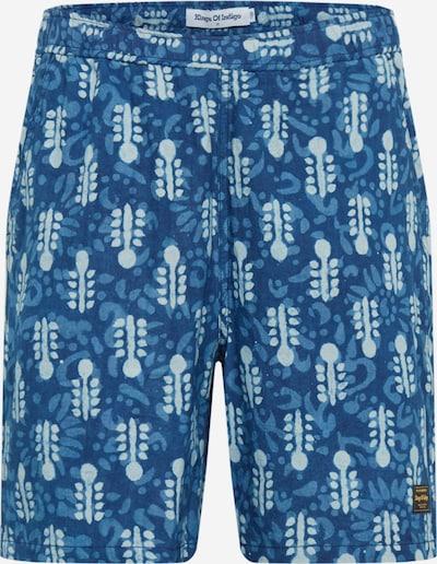 Pantaloni 'BIDATSU' Kings Of Indigo pe indigo / albastru deschis / alb, Vizualizare produs