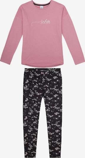Pijamale SANETTA pe rosé / negru, Vizualizare produs