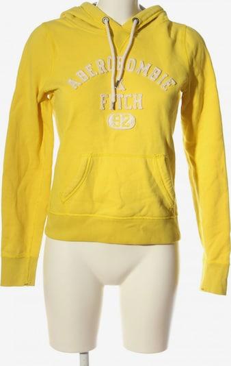 Abercrombie & Fitch Kapuzensweatshirt in S in pastellgelb / wollweiß, Produktansicht